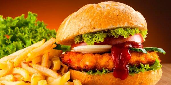 бургер и картошка
